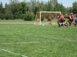 2008 spring soccer JL going for ball